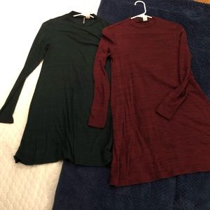 **2 FOR 1** H&M Mock Neck Sweater Dresses